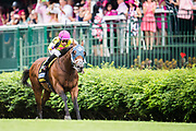 May 3, 2019: 145th Kentucky Oaks at Churchill Downs. World of Trouble with Manuel Franco wins the Twin Spires Turf Sprint