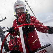 Leg 7 from Auckland to Itajai, day 11 on board MAPFRE, Rob Greenhalgh steering, 28 March, 2018.