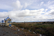 Bus shelter on the road from Punta Arenas to Puerto Natales on Ruta 9. Chile 17Feb13