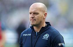 Scotland head coach Gregor Townsend during the Guinness Six Nations match at the Stade De France, Paris.