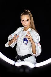 Photo shoot of Kaja Kajzer and Patricija Brolih, on August 12, 2020 in Judo klub Bezigrad, Ljubljana, Slovenia. Photo by Matic Klansek Velej / Sportida