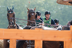 Misdee Wrigley Miller, (USA), Agusstos Armoei, Beau, Carlos, Clemens, Saco - Driving Marathon - Alltech FEI World Equestrian Games™ 2014 - Normandy, France.<br /> © Hippo Foto Team - Jon Stroud<br /> 06/09/2014