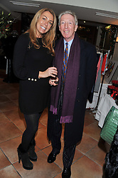 GRANIA STEPHENSON and PETER BECKWITH at the Delicious Glamourous Girls Christmas Bazaar held at The Little Black Gallery & 11 Park Walk, Park Walk, London on 27th November 2012.