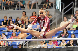 June 10, 2012 - St. Louis, Missouri, United States of America - KATELYN OHASHI tries to grab onto the bar in her uneven bar routine during the final day of the 2012 Visa Championships, USA Gymnastic's national championships,  Women's Junior Competition in St. Louis, MO.  OHASHI would finish in 5th place and become a member of the National Team. (Credit Image: © Richard Ulreich/ZUMApress.com)