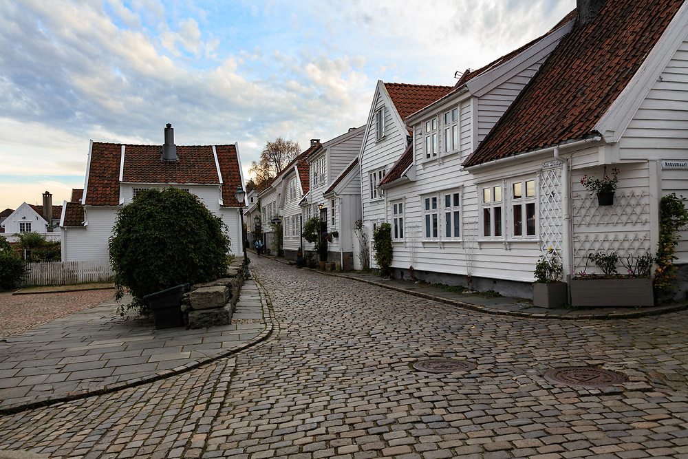 The Old Town in Stavanger (Gamle Stavanger) is a historic area in Stavanger, Norway. It is a tiny old town consisting of white wooden houses built in the 18th century.