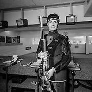 Allergattig Lütt, Sportschütze mit seinem Gewehr. Schweizer Meisterschaft, Walther Von Kaenel. © Romano P. Riedo | fotopunkt.ch