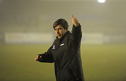 Bristol Rovers Manager, Darrell Clarke gives the fans a thumbs up - Photo mandatory by-line: Neil Brookman/JMP - Mobile: 07966 386802 - 04/01/2015 - SPORT - football - Nuneaton - James Parnell Stadium - Nuneaton Town v Bristol Rovers - Vanarama Conference