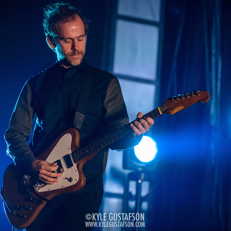 WASHINGTON, DC - December 5th, 2017 - Bryce Dessner of The National performs at The Anthem in Washington, D.C.  The band released their  seventh album, Sleep Well Beast, in September. (Photo by Kyle Gustafson / For The Washington Post)