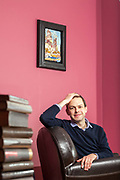 James Barr, Arabist author photographed at his home in London, United Kingdom.