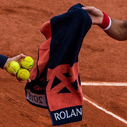May 30, 2018 - Paris, Ile-de-France, France - Novak Djokovic of Serbia serves against Jaume Munar of Spain during the second round at Roland Garros Grand Slam Tournament - Day 4 on May 30, 2018 in Paris, France. (Credit Image: © Robert Szaniszlo/NurPhoto via ZUMA Press)
