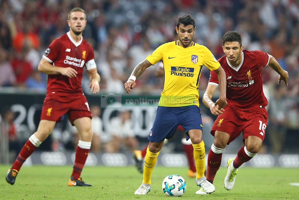 August 2, 2017 - Munich, Germany - Augusto Fernandez of Atletico de Madrid during the Audi Cup 2017 match between Liverpool FC and Atletico Madrid at Allianz Arena on August 2, 2017 in Munich, Germany. (Credit Image: © Matteo Ciambelli/NurPhoto via ZUMA Press)