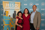 Teachers and staff pose for a photograph during the Educators of the Year celebration at the Bayou City Event Center, May 20, 2016.