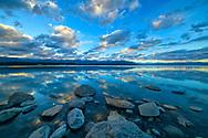 Oceania, New Zealand, Aotearoa, South Island, Canterbury, Lake Pukaki at sunset