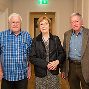 30.05. 2017.                                             <br /> Limerick Museum opened the doors to its new home at the former Franciscan Friary on Henry Street in the heart of Limerick city, dedicated to the memory of Jim Kemmy, the former Democratic Socialist Party and Labour Party TD for Limerick East and two-time Mayor of Limerick.<br /> <br /> Pictured at he opening of the Museum were, Jimmy O'Hanlon, Joan Harnett, sister of the late Jim Kemmy and Joe Harnett.<br /> <br /> The museum will house one of the largest collections of any Irish museum. Picture: Alan Place