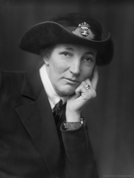 Dame Katherine Furse, founder of the English Voluntary Aid Detachment (VAD) nursing force during WW1, 1918