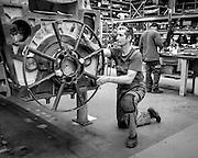 Ghent, Belgium, 22 may 2014, Worker at ABC motors