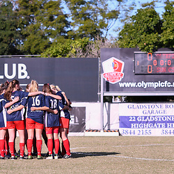 BRISBANE, AUSTRALIA - MAY 6:  during the round 6 PlayStation 4 National Premier Leagues Queensland match between Olympic FC and Sunshine Coast Fire on May 6, 2017 in Brisbane, Australia. (Photo by Patrick Leigh)