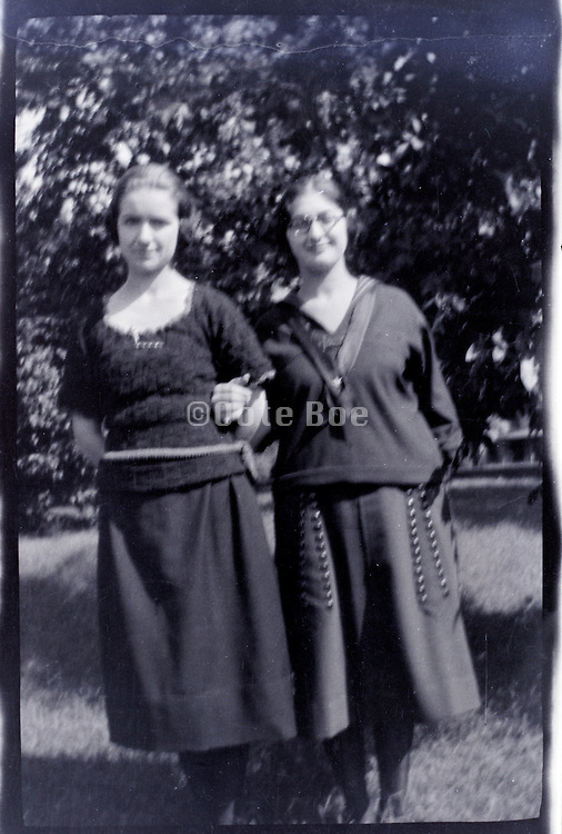two young adult girls 1920s 1930s USA