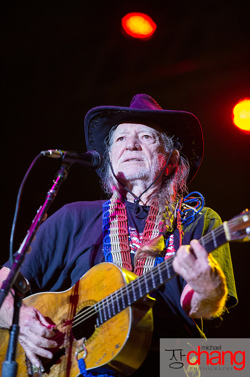 Willie Nelson performs at Bay Fest on Saturday, Oct. 6, 2012, in Mobile, Ala. (Bay Fest/ Michael Chang)
