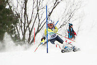 Paul Ladouceur Slalom U12 mens first run with Gunstock Ski Club.  ©2017 Karen Bobotas Photographer