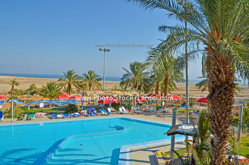 The swimming pool at Kibbutz Ein Gedy, Dead Sea, Israel
