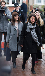 ©  London News Pictures.  04/12/2013. London, UK. Italian Sisters Elisabetta 'Lisa' (right in grey jacket) and Francesca (left with grey scarf) Grillo, who are the former personal assistants to Charles Saatchi and Nigella  Lawson, arriving at Isleworth Crown Court in London. The pair, who face fraud charges, are accused of misappropriating funds while working for Saatchi and Lawson. Photo credit : Ben Cawthra/LNP