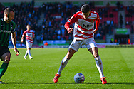 Danny Andrew of Doncaster Rovers (3) in action during the EFL Sky Bet League 1 match between Doncaster Rovers and Coventry City at the Keepmoat Stadium, Doncaster, England on 4 May 2019.
