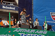 Jordin Sparks performs at the 2009 Arthur Ashe Kids' Day held at The USTA Billie Jean King National Tennis Center on August 29, 2009 in Flushing, NY