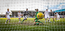 Dundee's Kane Hemmings scoring their goal. <br /> Dundee 1 v 1 Inverness Caledonian Thistle, SPFL Ladbrokes Premiership game played at Dens Park, 27/2/2016.