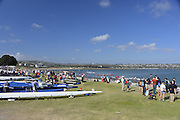 San Diego, California. USA. General Views, Crews boating from the beach. 2013 Crew Classic Regatta, Mission Bay.  16:15:21.  Saturday  06/04/2013   [Mandatory Credit. Peter Spurrier/Intersport Images]  ..