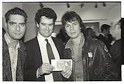 MARK STEPHEN; BOGGS, DUGGIE FIELDS PRIVATE VIEW, ALBERMARLE GALLERY, 27 OCTOBER 1987.