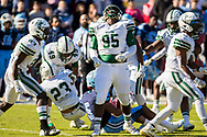 Dutch Fork Silver Foxes defensive tackle Trey Irby (95) celebrates a stop for loss against the Dorman Cavaliers in the Class AAAAA State Championship Game at Williams-Brice Stadium in Columbia, SC. Dutch Fork wins their 4th straight state championship at Williams Brice Stadium. Photos ©JeffBlakePhoto.com