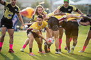 Lindenwood University takes on Arizona State University during the championship game at Red Bull Uni 7s Rugby Qualifiers at Infinity Park in Glendale, CO, USA, on 25 August, 2016.