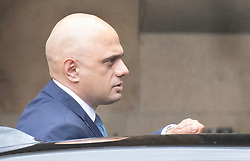 © Licensed to London News Pictures. 25/09/2019. London, UK. Chancellor Sajid Javid is seen at Parliament in Westminster after The Supreme Court in London yesterday ruled that Parliament had been suspended illegally. British Prime Minster Boris Johnson prorogued parliament just weeks before the UK is due to leave the EU on October 31st. Photo credit: Peter Macdiarmid/LNP