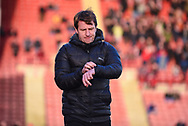 Daniel Stendel of Barnsley (Manager) before the EFL Sky Bet League 1 match between Barnsley and Charlton Athletic at Oakwell, Barnsley, England on 29 December 2018.