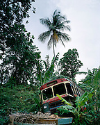 Crashed Bus in Jamaica