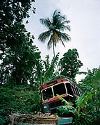 Crashed Bus in Jamaica