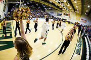 Vermont takes the court during the men's basketball game between the Northeastern Huskies and the Vermont Catamounts at Patrick Gym on Sunday afternoon December 16, 2018 in Burlington. (BRIAN JENKINS/ for the FREE PRESS)