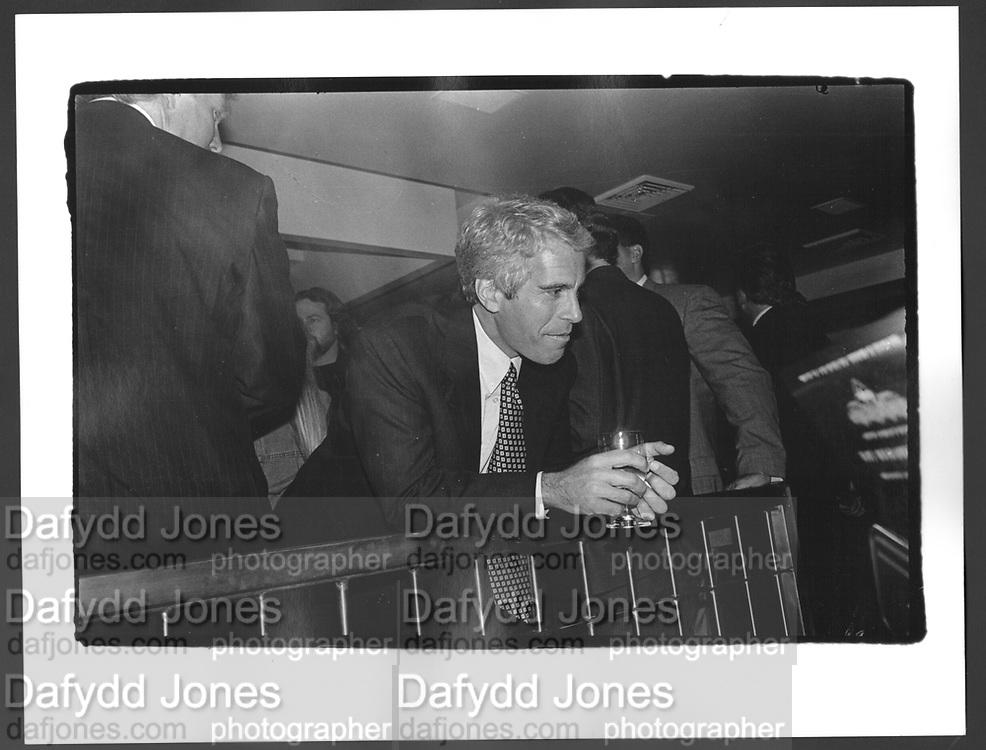 Jeffrey Epstein, Harley Davidson party. Manhattan. 19 October 1993.
