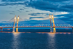 Bridge at the port of St. Petersburg, Saint Petersburg, Russia