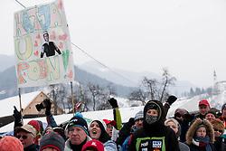 Supporters of Katja Pozun during Normal Hill Individual Competition at FIS World Cup Ski jumping Ladies Ljubno 2012, on February 11, 2012 in Ljubno ob Savinji, Slovenia. (Photo By Vid Ponikvar / Sportida.com)