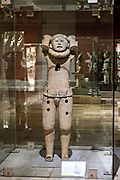 Remojadas sculptures on display at the Museum of Anthropology in the historic center of Xalapa, Veracruz, Mexico. The Remojadas civilization were an indigenous Mesoamerican civilization dating roughly from 100 BCE to 800 CE.