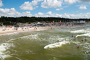 A view of Palanga, Lithuania, along the Baltic Sea