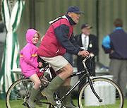 Henley, GREAT BRITAIN,  Harvard coach, harry PARKER and daughter Abgail, 2002 Henley Royal Regatta [Credit, Peter Spurrier/Intersport Images] 03/07/2002 20020703 Henley Royal Regatta, Henley, Great Britain