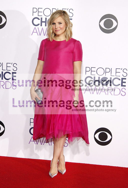 Kristen Bell at the 41st Annual People's Choice Awards held at the Nokia L.A. Live Theatre in Los Angeles on January 7, 2015. Credit: Lumeimages.com
