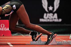 04.06.2011, Eugene, USA, Prefontaine Classic Track Meet, im Bild Lashinda Demus (USA) prepares to run the women's 400m hurdles at the Prefontaine Classic at Hayward Field in Eugene, Oregon..June 4, 2011. EXPA Pictures © 2011, PhotoCredit: EXPA/ New Sport Photo +++++ ATTENTION - OUT OF USA  +++++