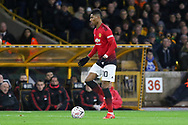 Manchester United Forward Marcus Rashford during the The FA Cup match between Wolverhampton Wanderers and Manchester United at Molineux, Wolverhampton, England on 16 March 2019.