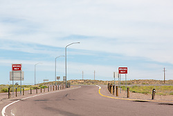 empty highway exit on I 25 in New Mexico