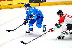 Nikita Mikhailis of Kazakhstan vs Tomas Pozsgai of Hungary during ice hockey match between Kazakhstan and Hungary at IIHF World Championship DIV. I Group A Kazakhstan 2019, on May 5, 2019 in Barys Arena, Nur-Sultan, Kazakhstan. Photo by Matic Klansek Velej / Sportida