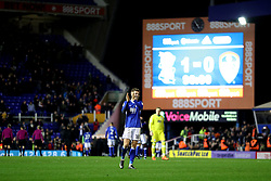 Birmingham City's Sam Gallagher celebrates at the final whistle